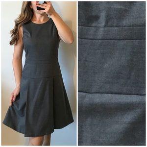 J. CREW Pleated Stretch Flannel Dress Gray Size 4